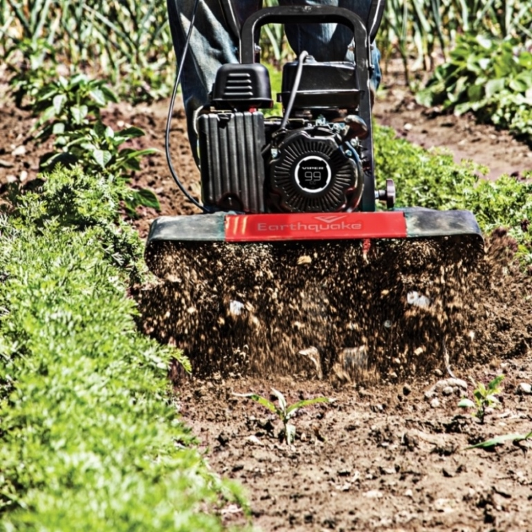 Configured as a front tine tiller, VERSA delivers the power to break new ground