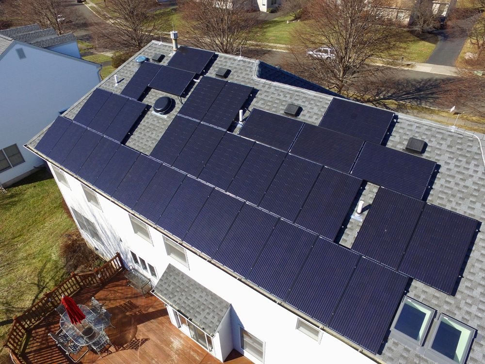 Exact Solar residential rooftop in Pennsylvania