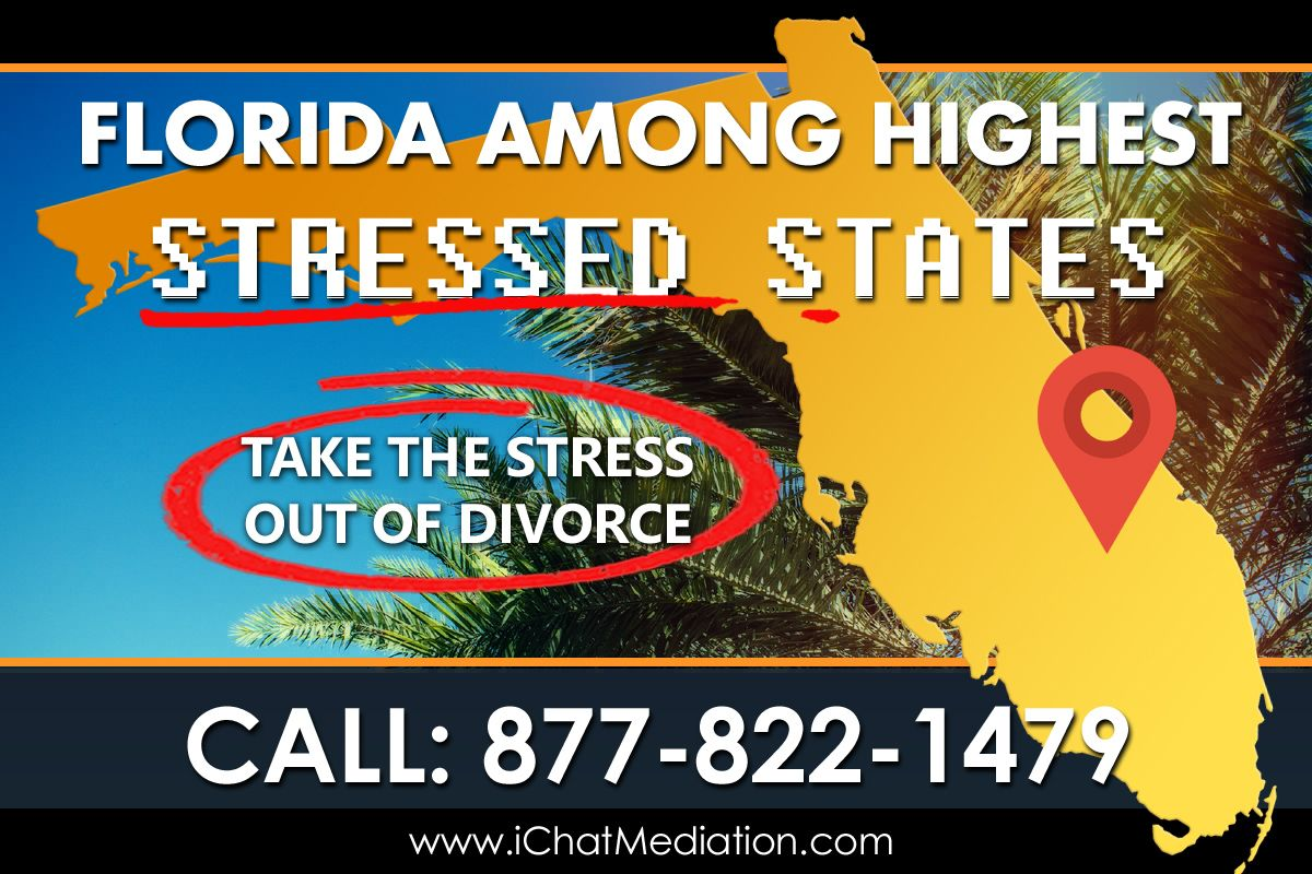 Florida Most Stressed States High Divorce Rate