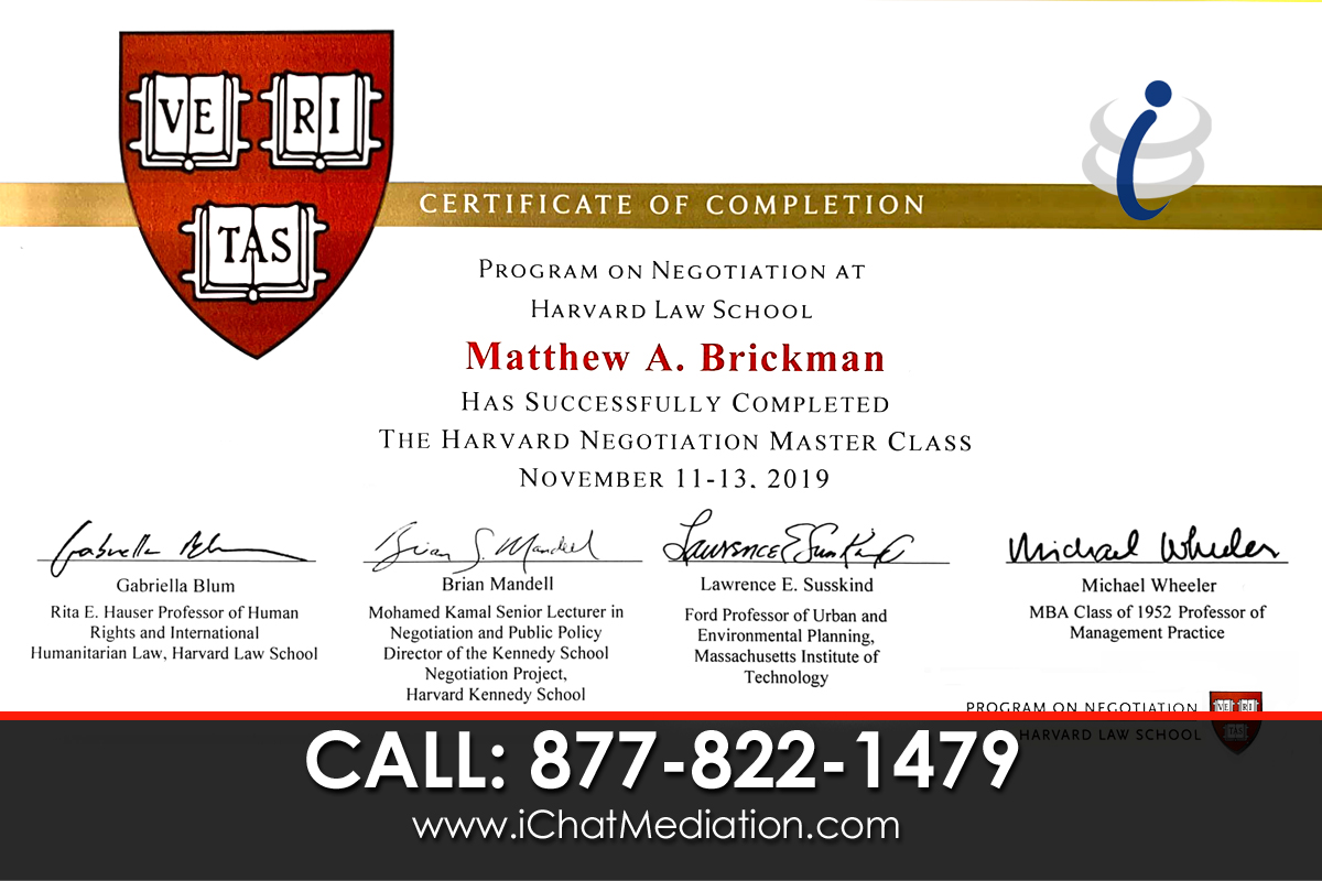 Harvard Law School Negotiation Master Class - Matthew Brickman