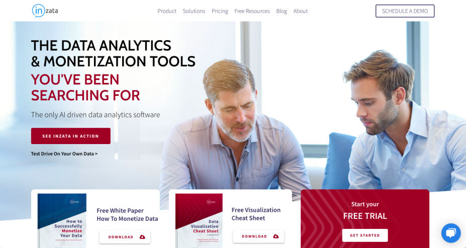 New Inzata Website Home Page