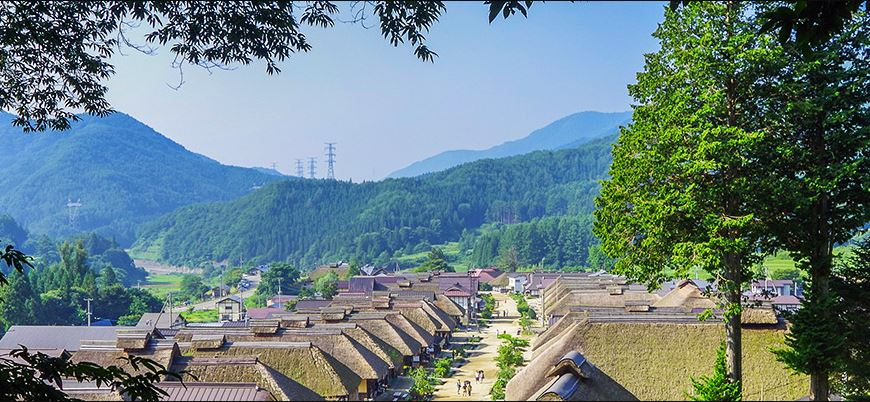Ouchi-juku - Thatched roof town in Aizu