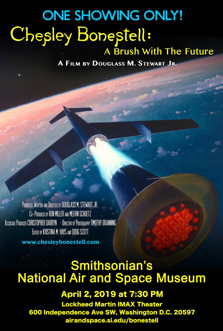 Smithsonian Approved Film Poster for Chesley Bonestell: A Brush with the Future