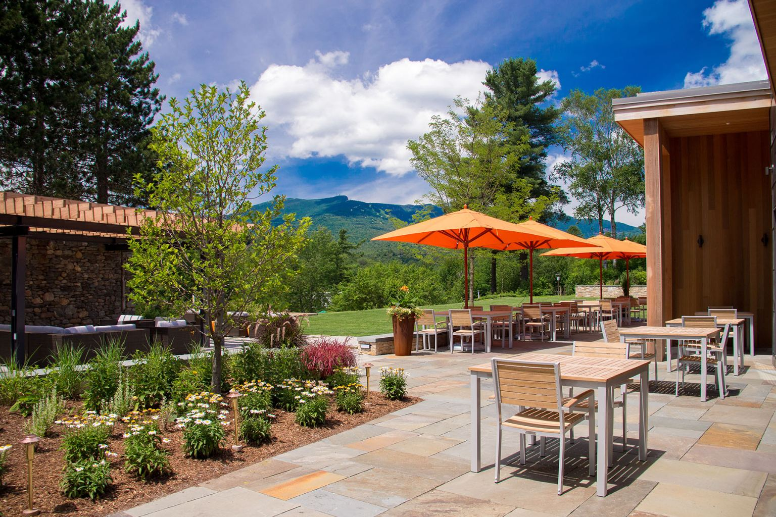 Topnotch Resort is nestled on 120-acres with views of the Green Mountains.